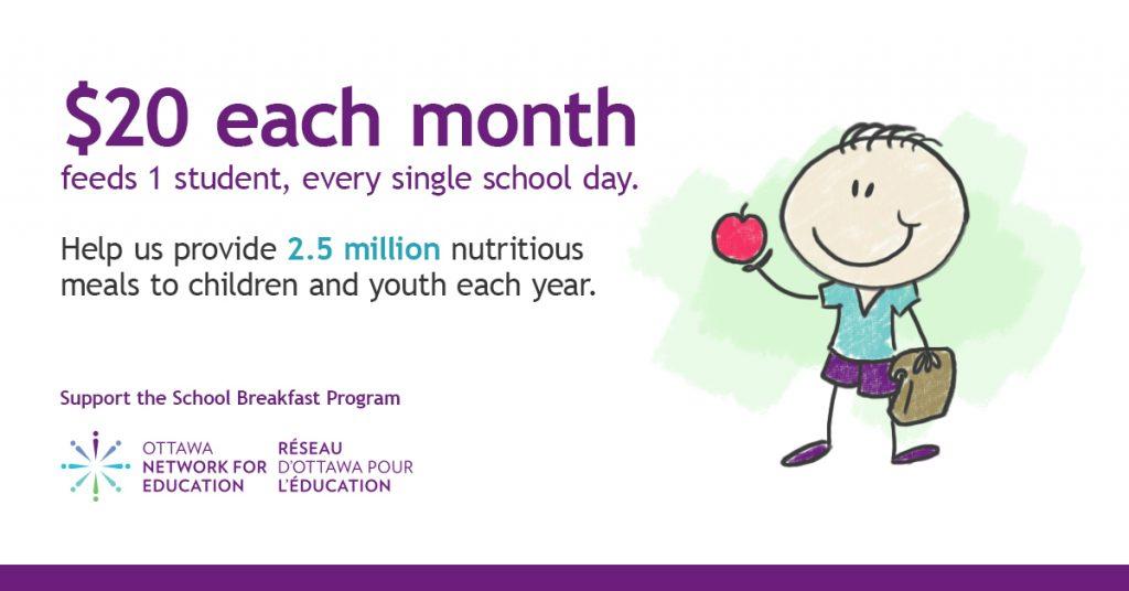 ottawa school breakfast program, onfe's neighbourhood