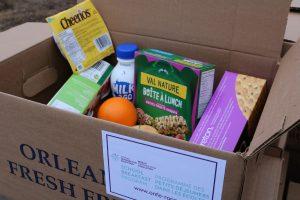SBP kit items in open box