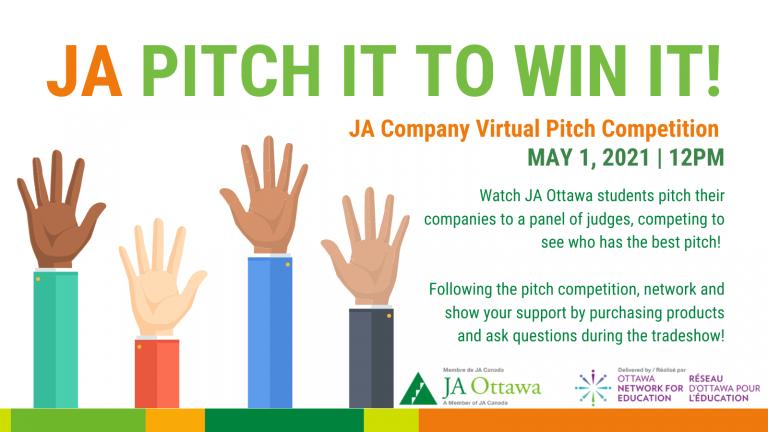 Pitch It To Win It! JA Ottawa's Pitch Competition